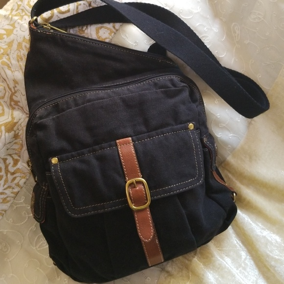 Fossil Bags   Canvas Sling Backpack   Poshmark 28cb3bc1a6